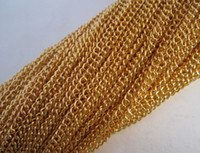 Wholesale Gold Plated necklace chain for jewelry making mmx3mm feet