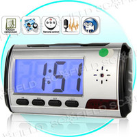Wholesale Clock Style Digital Spy Camera with Motion Detector Remote Control SS107767