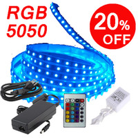 Free shipping Led Flexible Strip RGB 5M SMD 5050 60LED Meter...