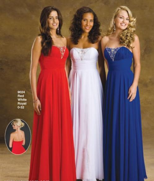 Red White And Blue Bridesmaid Dresses