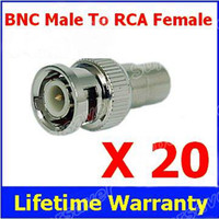 Wholesale RCA Female to BNC Male Coax Connector Jack Adapter Plug connecter For Audio Vedio