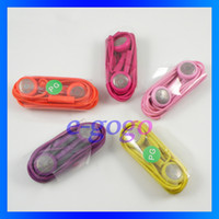Wholesale for s4 stereo earphone mm with mic iTouch earphone colorful phone accessories