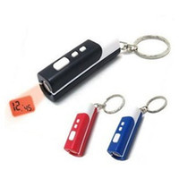 Wholesale projection clock mini laser clock key chain portable led time digital projection clock