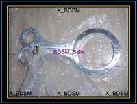 Wholesale New Female Anodized Aluminum Cangue Neck Handcuff Restraint Bondage Yoke Wrist Pillory with Lock