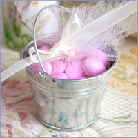 Wholesale Galvanized mini pails wedding favors mini bucket candy boxes favors