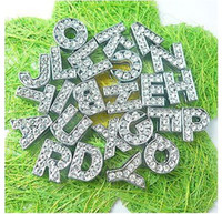 Wholesale mm A Z rhinestone Slide letters DIY Accessories