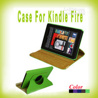 Wholesale Stand Carriage Case for Amazon Kindle Fire Degree Rotating PU Leather Folio Case Cover pc