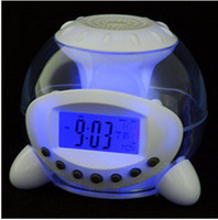 Wholesale 20pcs Popular mini alarm clock colors alarm clock with LED timer calculagraph thermom