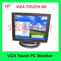 New 15'' Desktop Free Shipping 15inch PC Monitor with VGA USB TOUCH AV