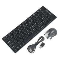 Wholesale 2 G Wireless Ultra Thin Keyboard Mini Mouse USB Receiver Combos