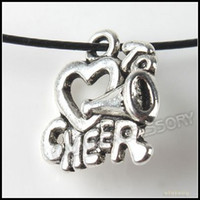 Wholesale 17mm Cheer Heart Charms Pendants Vintage Silver Alloy Metal Pendant In Stock