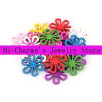 Wholesale mm Six leaves flowers pendant bead accessories color mixing