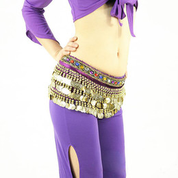 Wholesale Promotion Colors Rows Sequins Belly Dance Hip Skirt Scarf Wrap Belt Costume