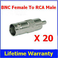 Wholesale BNC Female to RCA Male Coax Connector Jack Adapter Connecter for CCTV System