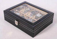 Wholesale New Grid Slots Gift Case Jewelry Storage Holder Display Wrist Watches Boxes