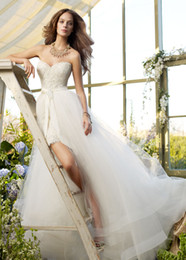 Wholesale Fangle Elegant White Sheath Sweetheart Crystals Applique Floor length Wedding dresses Bridal gowns B