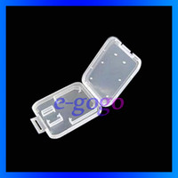 Wholesale By HK post Plastic Case Box For GB GB GB TF SD MicroSD Card packing box