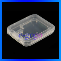 Wholesale Memory Card Case Protector Box For SD T Flash card Case Plastic Box SD card packing box