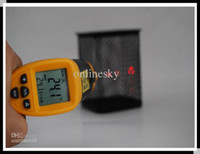 Wholesale Non Contact IR Infrared Thermometer C With Laser Gun Alarm MAX MIN AVG DIF ReadingH4330