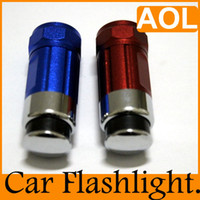 Wholesale LED Flashlight car cigarette rechargeable w LM Car Cigarette lighter mini LED Light