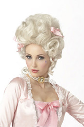 Wholesale Retail Sexy White Marie Antoinette Woman Adult Cosplay Wigs Costume Wigs High Qualtiy