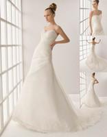Wholesale 2014 Sexy Elegent Wedding dresses White Organza Sweetheart bridal grown custom BG394 cn trade