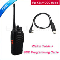 Wholesale Lowest H777 Walkie Talkie UHF Watt CH Portable Two Way Radio Programming cable A0695A J0012A