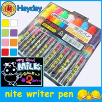 Wholesale lighter color fluorescent Nite writer pen shop window writing board marker stationery marking Pen