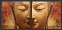 asian wall panels - Oil Wall Art Handpainted Wall Canvas Art Modern Abstract Asian Buddha Canvas Oil Painting BU