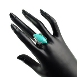 Cheap bicone Turquoise rings For fashion lady,zinc alloy jewelery ring,RN-610
