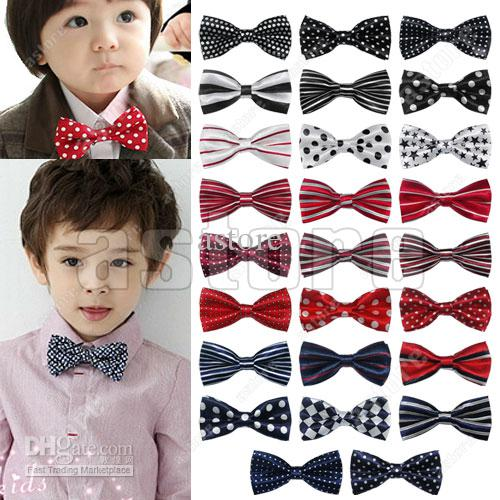 Wholesale 100 Pcs/lot + New Novelty Unique Design Children Kids Boys Bowtie Pre Tied Wedding Bow Tie
