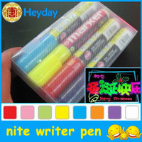 Wholesale Durable painting marking pen colors bar fluorescent high lighter nite writer marker pen stationery