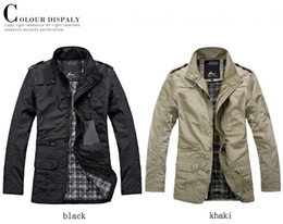 Wholesale 2013 Euramerican fashion men single breasted coat casual outwear coats clothes warm black khaki