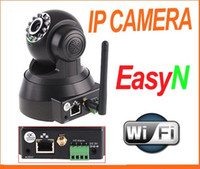Wholesale EasyN Wireless IP Camera webcam Web CCTV Camera Wifi Network IR NightVision P T With Color BOX