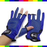 Wholesale gloves brand new good Pelagic Cotton Non slip Palm Three Fingers Gloves Pair ST15