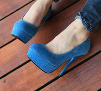 Wholesale sexy stiletto heels blue pumps colors women s basic high platform heel dress shoes