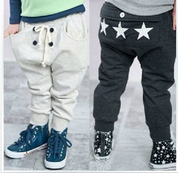 Wholesale b2w2 New Autumn cotton White dark gray Boy s Girl s Pants colr