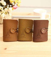 Wholesale Romantic Bit Cards Tower Suede Leather Pouch Around Buckle Creative Card Bags Card Holders