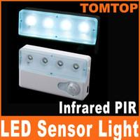 adjustable light sensor - Sensitivity LED Infrared PIR Auto Sensor Motion Detector night Light Lamp adjustable brightnes H8010