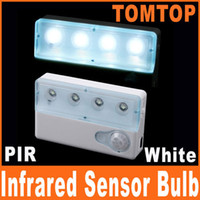 White anti interference - Sensitivity LED Infrared PIR Auto Sensor Motion Detector night Lights Lamp anti interference H8010