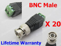 Wholesale Terminal Block BNC Connector Male BNC Coax CAT5 Video Balun To Camera CCTV Video Balun Connector