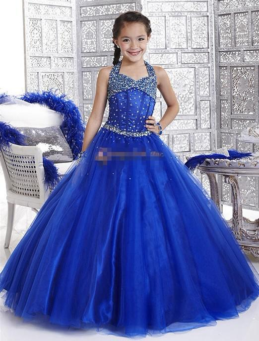 Elegant Ivory Turquoise Blue Flower Girl Dress Special Occasion 4 ...