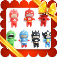 Wholesale Funny Cartoon Batman amp Spider Man USB Flash Memory Stick Pen Drive U disk Real GB GB GB GB box