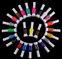 24 colors 2-Way Pen Brush Pearl New and Fashion 24 Colors Two Way Nail Polish Nail Brush Nail Enamel 10set lot