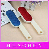 Wholesale 6213 cleaning clothes dust pets hair use Fluff Lint Dust Hair Remover Clothing Brush Sides free shi