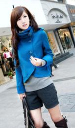 Новые горячие женщины способа Корея Темперамент водолазка Outwear4 шерстяное пальто цвета # 2707