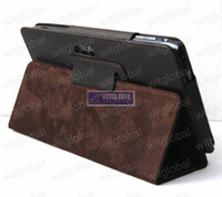 Wholesale WitBlue Brown Folio Leather Case Film Stylus For Acer Iconia Tab A100 A101 Tablet