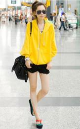 Новые корейских женщин Тонкий Sexy Топ Разработанный толстовки пальто одного цвета # 2702