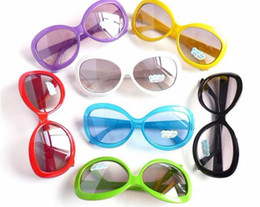 Wholesale children s glasses Summer newest fashion boys and girls baby candy colored the Maximum box sunglasses huge lenses dandys