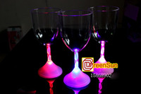 Wholesale 25pcs Flash Red Wine Cup LED Light Cup Glass Party for Wedding Celebration Bar Disco